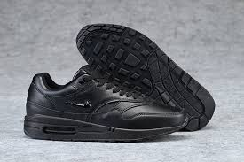 new arrival 2017 nike air max 1 premium leather winter men s casual sports shoes all black