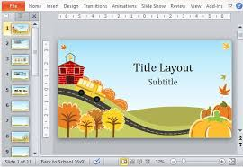 Ppt Template For Academic Presentation Fall Fun Powerpoint Template