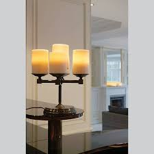 rustic table lamp chandelier led 5 candles