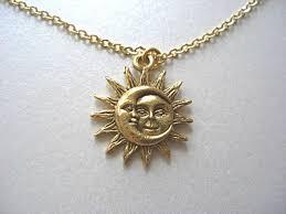 jewels moon sun sun necklace moon