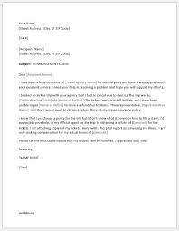 Claim Letters 5 Best Claim Letters For All Situations Word Document