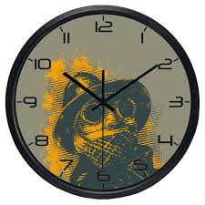 cool looking clocks. Fine Cool Modern Cool Frog Detective Study Room Wall Clock Bedroom Decorate Glass  Face Silent Good Quality And Looking Clocks