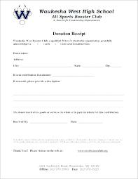 charitable contribution receipt letter charitable contribution receipt template