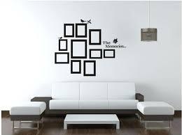 wall frame decoration photo frame black wall sticker vinyl decal diy wall decor frame newspaper