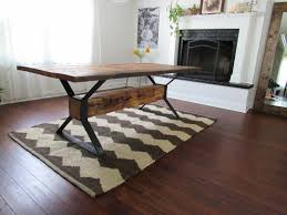 industrial dining furniture. Brilliant Dining Custom Made Industrial Trestle Reclaimed Wood Dining Table Throughout Furniture