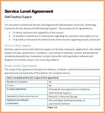 It Service Level Agreement Template Free Download Service Level