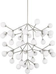 tech 700mragws led927 mara grande modern satin nickel led chandelier lamp loading zoom