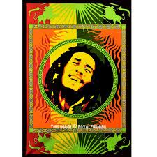 Rasta Reggae Bob Marley Fabric Cloth Poster Tapestry