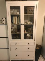 ikea hemnes glass door cabinet w 3 drawers for in san francisco ca offerup