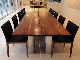 Contemporary Dining Room Sets Round Modern Dining Table And Large Brown Glaze Teak Wood Dining