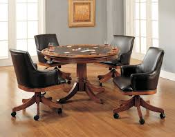 dining chairs on casters contemporary chair on casters leather intended for stylish house rolling dining room chairs remodel