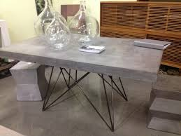 how to make concrete table with wood inlay concrete dining table diy concrete top dining table