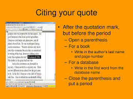How To Use In Text Citation Ppt Download