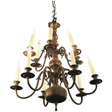 1900s american made dutch colonial style twelve light chandelier for