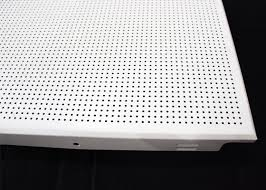 washable square perforated metal ceiling suspended acoustical ceiling panels for office