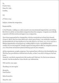 example of resignation letterexample of resignation letter template