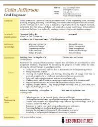 Civil Engineer Resume 2017 Samples •