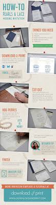 best images about invitation card how to make a pearls and lace wedding invitation using andprint templates