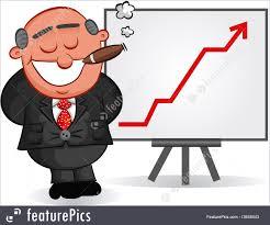 Chart Cartoon Illustration Of Business Cartoon Cartoon Boss Man