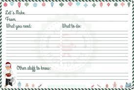 Printable Christmas Recipe Cards Free Printable Christmas Recipe Cards Template Festival Collections