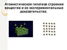 Презентация к открытому уроку по физике Тема Атомистическая  слайда 3 Атомистическая гипотеза строения вещества и ее экспериментальные доказательст
