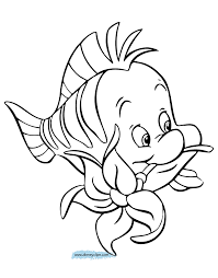 Small Picture Coloring Download Flounder Coloring Pages From The Little Mermaid