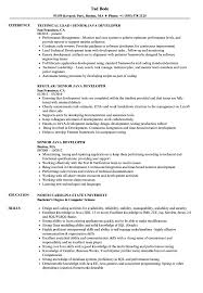 Java Developer Resume Example Senior Java Developer Resume Samples Velvet Jobs 3