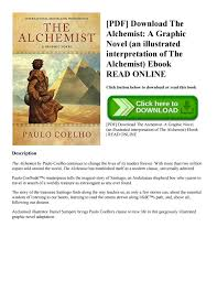 pdf the alchemist a graphic novel an illustrated   pdf the alchemist a graphic novel an illustrated interpretation of the alchemist ebook by highgoodbook issuu