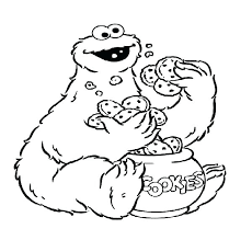 Monster Coloring Sheets Cute Monster Ring Pages Cookie Printable