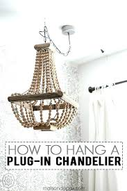 outdoor plug in chandelier how to hang a this is great step by
