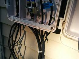 wiring how do i properly feed coax through an outside wall decorative cable box cover at Cord Box Wiring