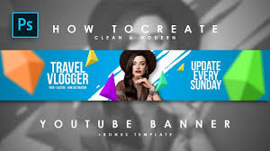 How To Create Clean Modern Youtube Channel Art Youtube Banner Photoshop Tutorials