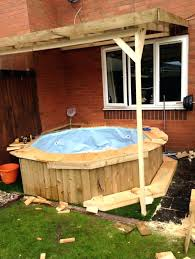diy wood hot tub hot tub he continued i had the frame from the trampoline and diy wood hot tub