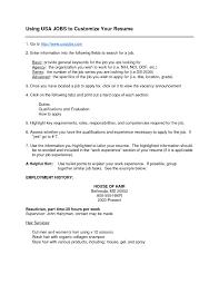 Gallery Of Usa Jobs Resume Cover Letter Sample Cover Letter