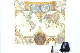 world map wall hanging map wall tapestry grey black multi world map wall tapestry atlas bedspread