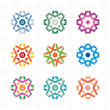 Decorative Designs Images Round designs decorative vignettes Royalty Free Vector Clip Art 2