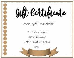 Printable Gift Certificate Templates Free Gift Certificate Template 50 Designs Customize Online And