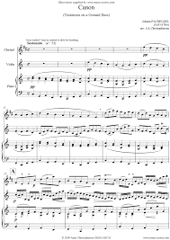 pachelbel canon violin sheet music canon trio for clarinet violin and piano sheet music by johann