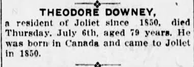 joliet evening herald, theodore downey death notice - Newspapers.com