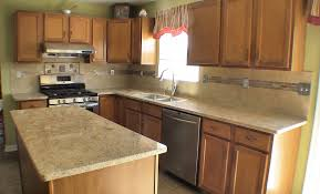 cool kitchen layouts design with marble countertops and wooden floor design
