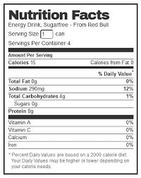 carbonated water sodium citrate taurine glucuronolactone caffeine acesulfame k aspartame inositol xanthan gum niacinamide calcium pantothenate