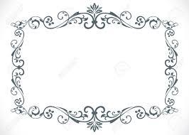 black vintage frame design. Black And White Floral Vintage Frame With Copy Space Vector Template. Stock - 67843050 Design E