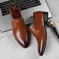 Business <b>Men Shoes</b> Formal Wedding <b>Shoes</b> British Carved <b>Men</b> ...