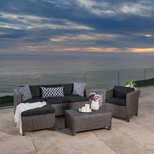 christopher knight home puerta grey outdoor wicker sofa set. Large Size Of Sofa:settings Seterus Seterra Seton Hall Set Tv Christopher Knight Home Puerta Grey Outdoor Wicker Sofa S