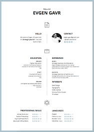 Free modern two-column resume template