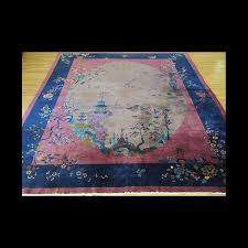 lovely oversize antique art deco chinese oriental area rug 10 x 14