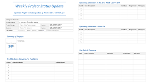 status update template word weekly project status update template analysistabs innovating