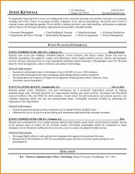 Event Planner Resume Template Resume Template