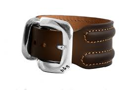 wide leather wristband