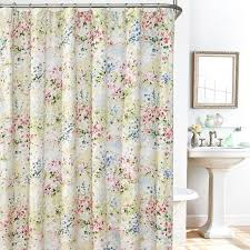 giverny fl plisse fabric shower curtain liner and hook set